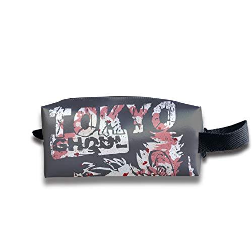 Aiello Portable Storage Bag Handbag G-HOUL Tokyo Cosmetic Bag Case Organizer with Zipper Travel Kit Bag