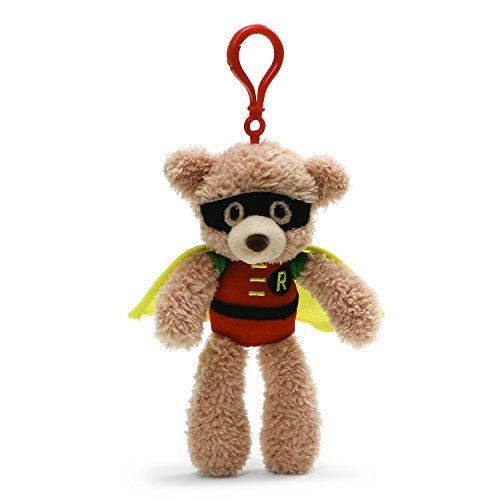 Gund DC Comics Fuzzy Robin Plush Backpack Clip,