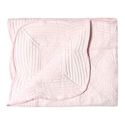 Oussum Luxury Lightweight Nursery Baby Toddler Blanket Newborn Winter Sleeping Quilt (Pink)
