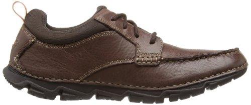 Rockport Roc Sports Lite II Moc Front - Zapatos de Cordones de cuero hombre marrón - Marron - Marron foncé
