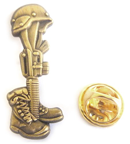 (Fallen Soldier Battlefield Cross Hat Jacket Vest Tie Tack Lapel Pin)