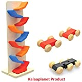 Kalaplanet Wooden Slippery Cars Toy
