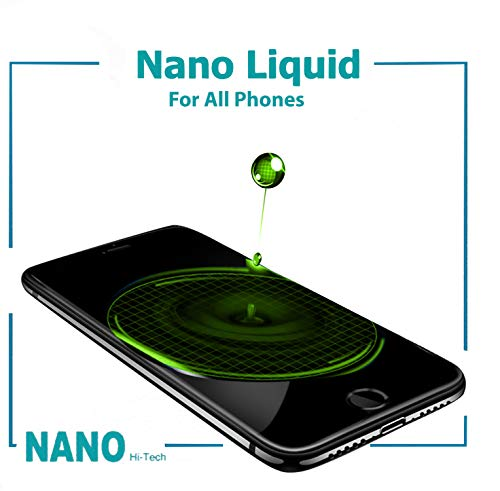 Original Nano Liquid Screen Protector, Scratch Resistant 9H Hardness for All Smartphones, Tablets, Watches Glasses, Cameras. Nano Coating for Apple iPhone 6/6s, 7/7 Plus, 8, X, Xs, Xr. (Smartphone Glass Screen Protector)