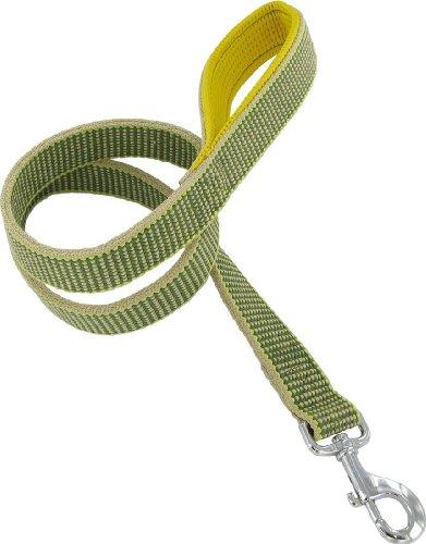 """Kakadu Pet Sea Grass Padded Lead, 1 1/4"""" x 48"""", Green"""
