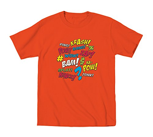 Comic Words Onomatopoeia - Toddler Shirt - ORANGE - 4T