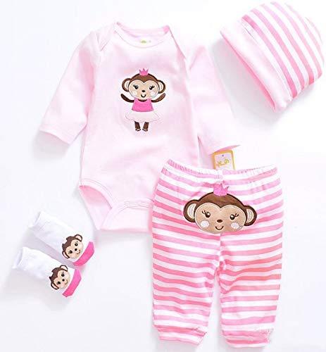 [해외]Tatu Reborn Baby Girl Doll Clothes 20-22 Inches Newborn Baby Girl 4 Pieces Accessories Set / Tatu Reborn Baby Girl Doll Clothes 20-22 Inches Newborn Baby Girl 4 Pieces Accessories Set