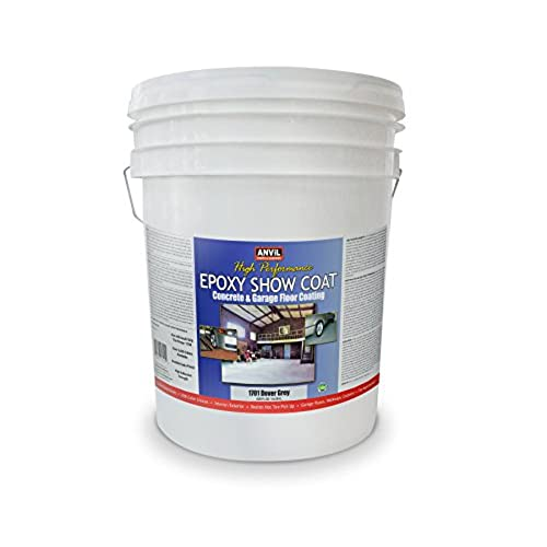 Anvil Epoxy Show Coat Concrete And Garage Floor Coating (5 Gallon, Dover  Grey) · Anvil Paints
