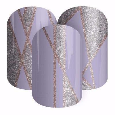 (Pearl Mist - Jamberry Nail Wraps - Sparkle Lines on Light Purple )