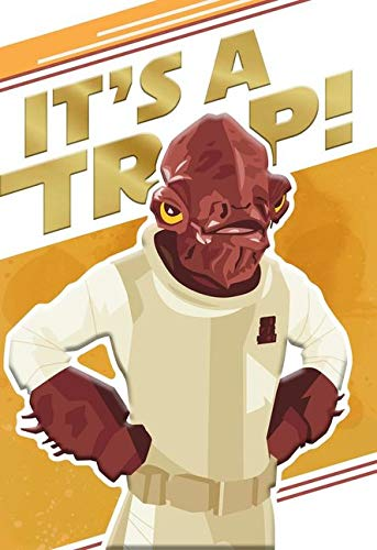 Hallmark Star Wars Admiral Ackbar It's a Trap! Birthday Card