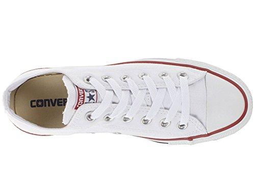 Converse Mens Chuck Taylor All Star Alto, 4,5 D (m) Us, Bianco Ottico