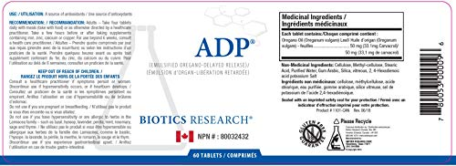 Biotics Research A.D.P. 120 Tabs 240 Tabs