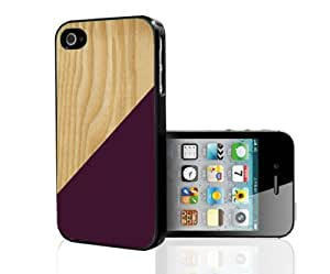 Burgundy Geometric Shape on Light Wood Hard Snap on Phone Case (iPhone 5/5s)