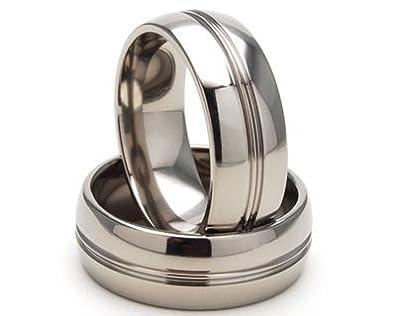 e5c88489296e0e Amazon.com: Titanium Rings, Titanium Wedding Bands, Men's Rings ...