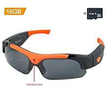 Toughsty™ 16GB 1920 x1080P HD Eyewear Hidden Camera Sunglasses with Photo Taking Function