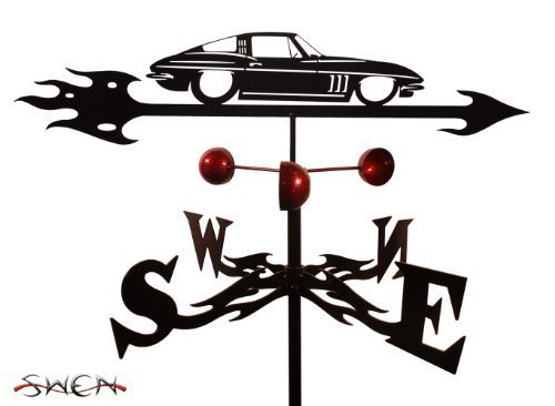 Farrell Series CHEVY CORVETTE AUTO CAR GARDEN Stake Weathervane by SWEN Products by SWEN Products