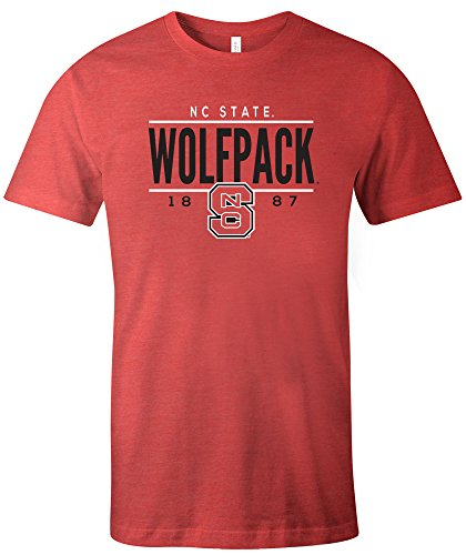 NCAA North Carolina State Wolfpack Tradition Short Sleeve Tri-Blend T-Shirt, Red,Medium (University Carolina Red State North)