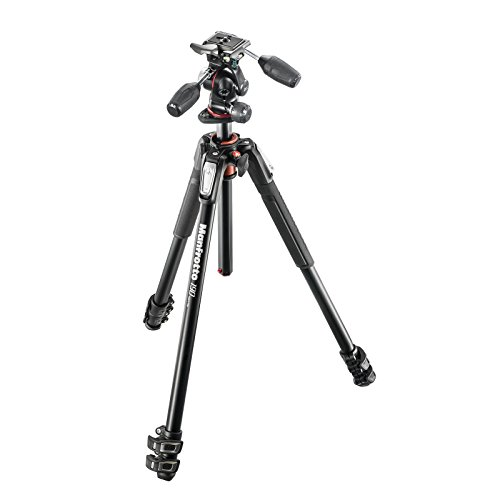 Manfrotto MK190XPRO3-3W   Aluminum 3 Section Tripod with Head by Manfrotto