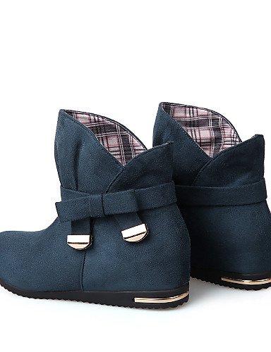 Rojo Zapatos Tacón mujer Cuñas blue dark la Sintético Punta us8 Redonda de Botas Negro cn39 Cuña dark Casual a uk6 blue Ante Azul black Moda eu39 Botas uk3 eu35 cn34 eu39 Vestido XZZ us8 us5 dUqtEU