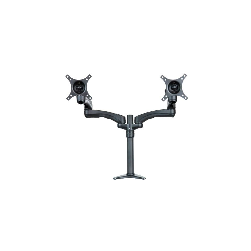 Mount It Articulating Dual Arm Computer Monitor Desk Mount for monitors up to 24
