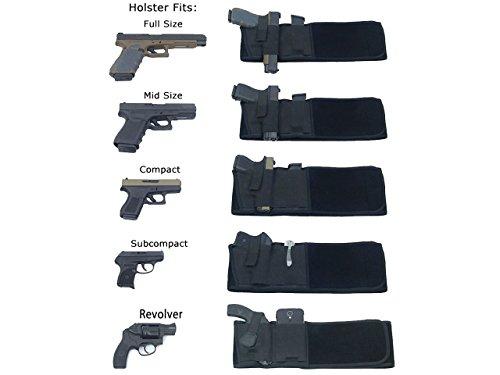 FL Clothing Linkshänder Taktische Neopren Gürtel Wrap Pistolenholster Magazin Tasche Airsoft Military Black MNuaOGZZ9f