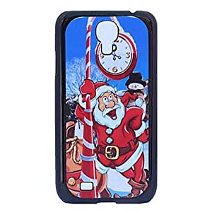 GOG-Cartoon Santa Claus Wall Clock Grind Arenaceous Plastic Back Case for Samsung Galaxy S4 I9500