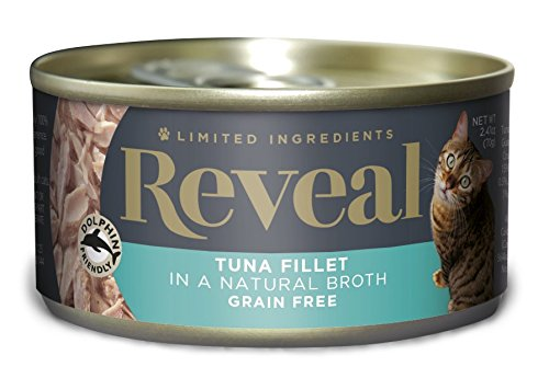 Reveal Grain Free Wet Canned Cat Food 2.47oz Tuna Fillet - 24 Pack