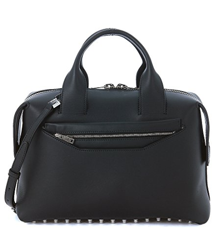 Alexander Wang Rogue bowler bag in black brushed leather and rhodium