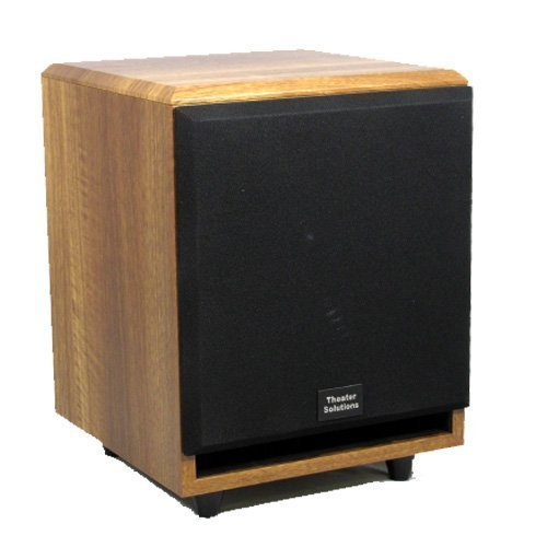 Theater Solutions SUB10FM Front Firing Powered Subwoofer (Mahogany) by Theater Solutions