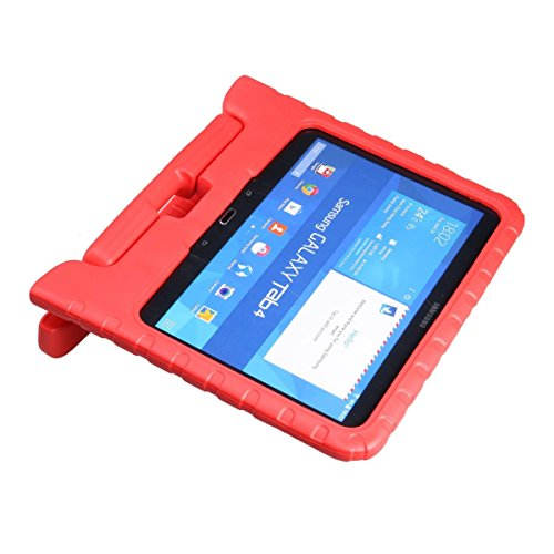 eTopxizu Samsung Galaxy Tab 4 10.1 Kids Case - Light Weight Shock Proof Convertible Handle Stand Kiddie Children Friendly Case for Samsung Galaxy Tab 4 10.1-Inch SM-T530 SM-T531 SM-T535 Tablet, Red Color