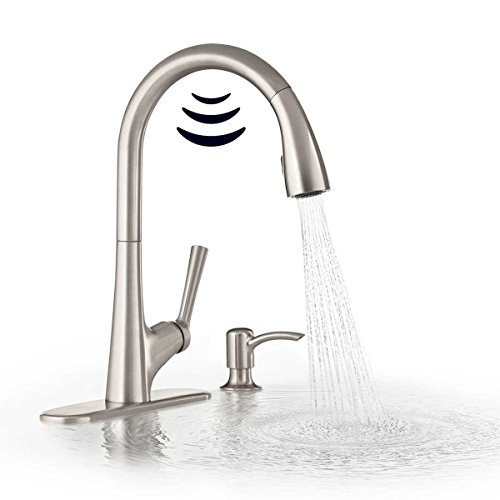 (Kohler Malleco Touchless Pull-down Kitchen Faucet with Soap Dispenser)