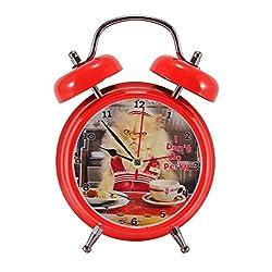Mark Feldstein Joy The Cat Don't Do Perky Bright Red 6 x 5 Metal Wacky Waker Alarm Clock