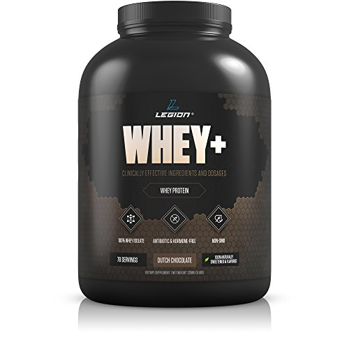 Legion Whey+ Chocolate Protein Powder 5lb. Best Tasting All Natural Whey Isolate Protein Shake From Grass Fed Cows For Bodybuilding, Weight Loss & Faster Recovery - Low Carb, Lactose Free, Sugar Free. by Legion Athletics