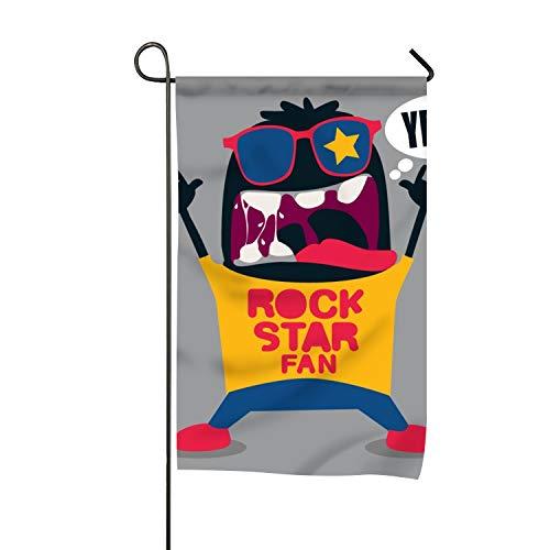 SHUIZHIQING Rock Star Garden Flower Double Side Premium Home Flag Weather - Star Patrick House Rock