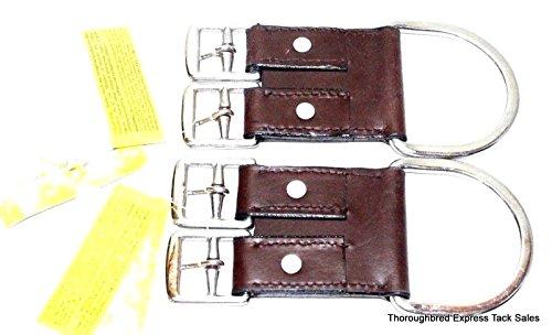 Australian Girth (One Pair Royal King 2 Buckle Leather English Girth Converter Horse Tack)