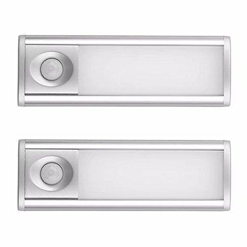 Iluminación de armarios, sensor de movimiento, funciona con batería recargable y sin cables Barra de luz, LED luces de...