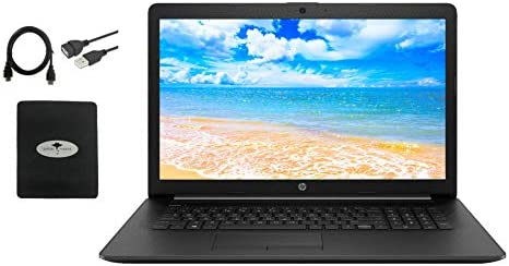 "Newest HP 17.3"" HD+ Laptop, tenth Gen Intel Core i3-1005G1 Up to three.4GHz(Beat i5-7200U), 16GB RAM, 1TB HDD+256GB SSD, DVD-RW, Ethernet, WiFi, Webcam, HDMI, Fast Charge, Win10 S, w/GM Accessories"
