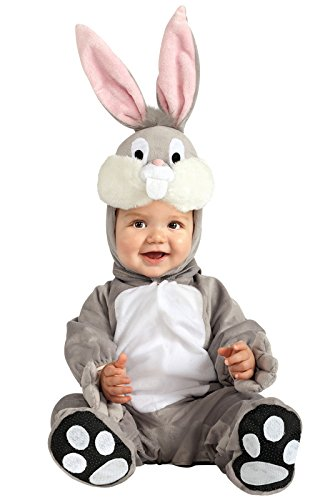 [Looney Tunes Bugs Bunny Romper Costume, Gray, 6-12 Months] (Melody Costume)