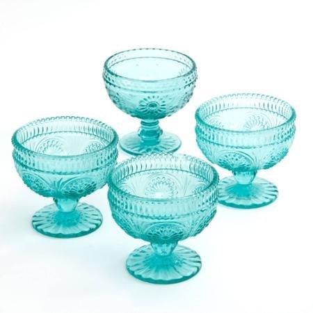 The Pioneer Woman Adeline 10 Oz Glass Sundae Cups, Set of 4