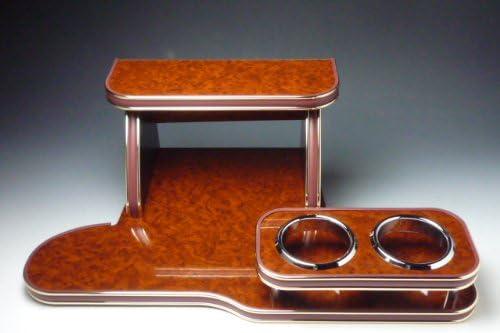 ポルテ フロントテーブル ウッド 茶ゴールド