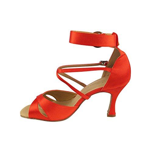 50 Tinten Rode Danskleedjes: Comfort Avondjurk Pumps, Ballroomschoenen Voor Latin, Tango, Salsa, Swing, Theather Kunst Met 50 Kleuren (2,5, 3 & 3,5 Hakken) 7002- Rood Satijn