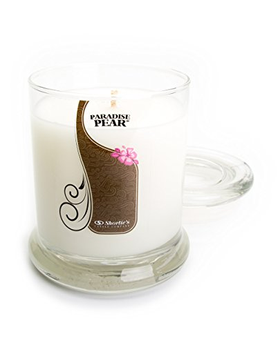 Paradise Pear Candle - 10 Oz. Highly Scented White Jar Candle - Fruit Candles Collection by Shortie's Candle Company