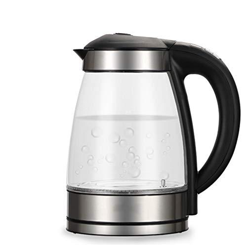 JINPENGRAN Electric Kettle Heater, Glass Tea, Coffee Maker, Borosilicate Without BPA, Automatic Shutdown Boil Dry Protection ()