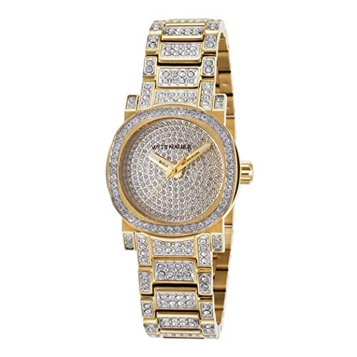 (Wittnauer WN4004 Adele Gold Tone Stainless Steel with Crystal Accents Women's Quartz Watch )