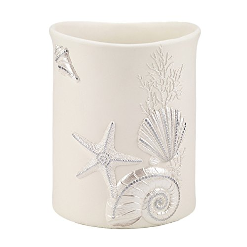 Avanti Sequin Shells Wastebasket by Avanti