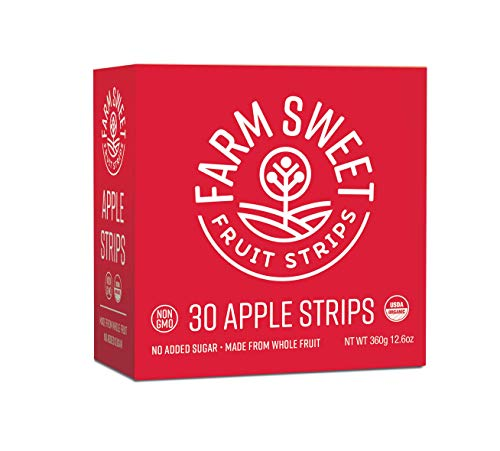 Farm Sweet Organic Fruit Strip With No Added Sugar, Apple, 30 - Dried Fruit Farms