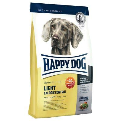 Happy Dog Supreme Fit & Well Light – Calorie Control Delicious premium nutrition for adult dogs, with just 7% fat and ideal for those with excess weight 12.5kg