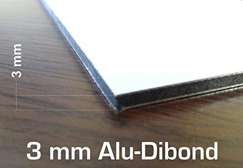 3mm White ACM Sheet 300x200mm Dibond Aluminium Composite Sign Making Sheet