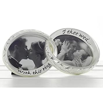 with this ring i thee wed wedding gift photo frame 60200 - With This Ring I Thee Wed