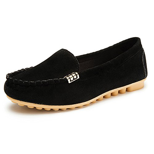 (Londony ♥‿♥ Clearance,Women's Faux Suede Loafers Flats Casual Round Toe Moccasins Wild Breathable Driving)