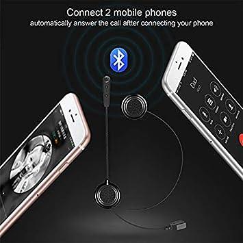 1 confezione Auricolare Bluetooth per casco moto collegare 2 telefoni cellulari EJEAS E1 Bluetooth 4.1 Auricolare per cuffie,appositamente progettato per la guida di motociclette di sicurezza